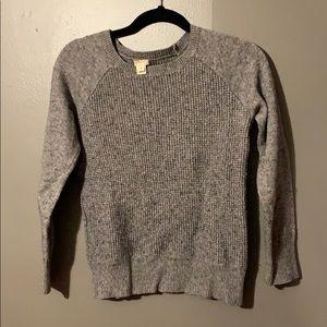 J. crew sweater in grey size medium